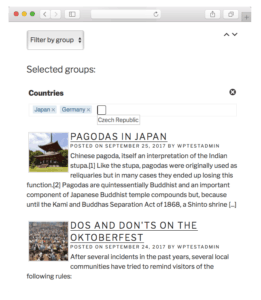 Tag Groups Premium - Dynamic Post Filter