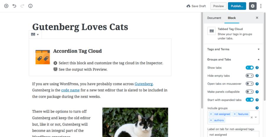 Screenshot - Gutenberg Post Edit screen - WordPress