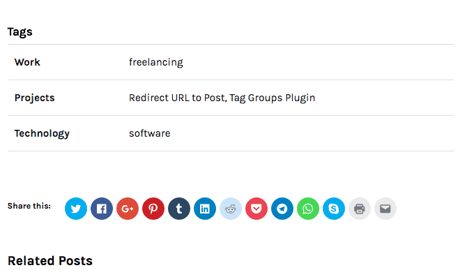 Screenshot - Post Tags - A New Home for the Plugins