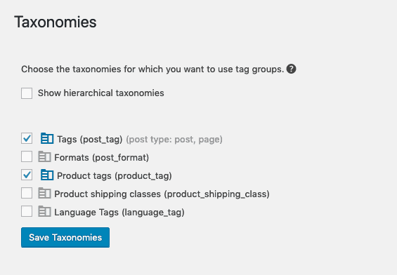 Tag Groups Premium - Taxonomies - WordPress plugin