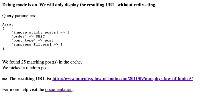 redirect URL to post debug parameter