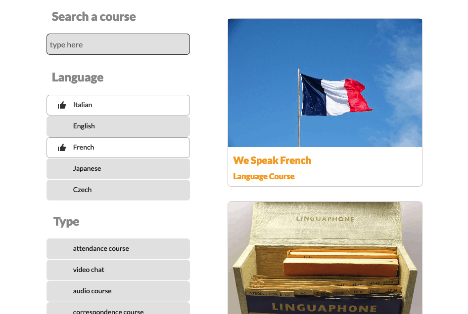 screenshot of WordPress live post filter