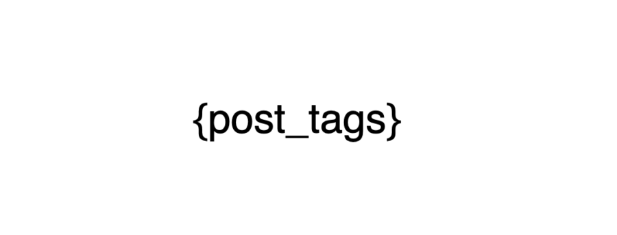 post tags placeholder