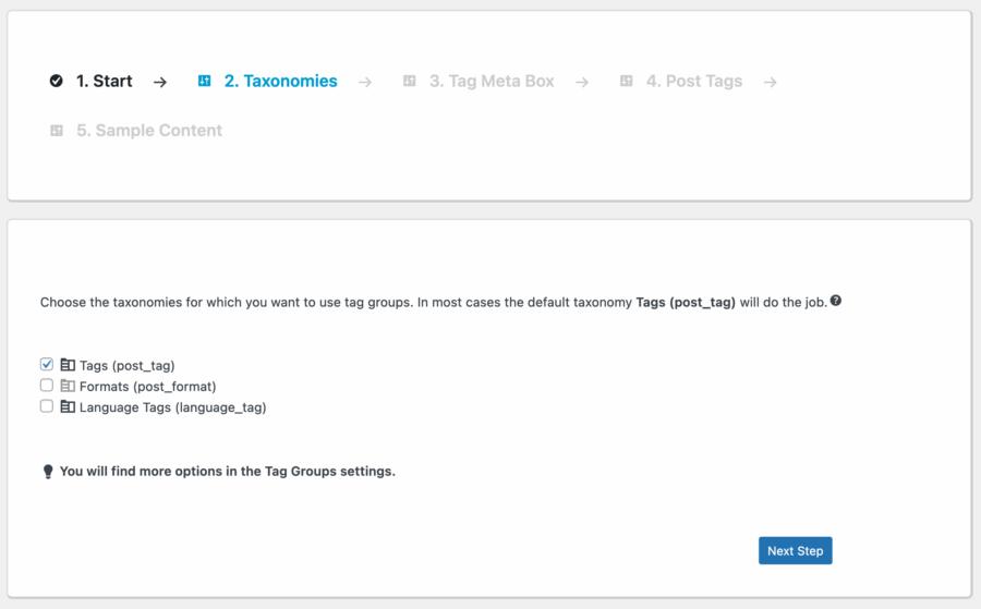 WordPress plugin, setup wizard